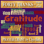 Forty Thanks Prayer Chant cover art