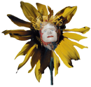 Image of a sunflower with a woman's face